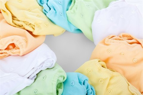 This is a photograph of reusable nappies